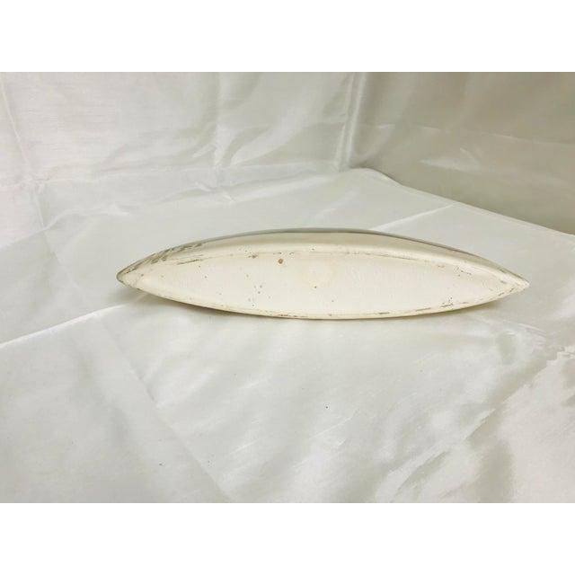 Contemporary Oblong Decorative Centerpiece Glazed Pottery Vase For Sale In Saint Louis - Image 6 of 8