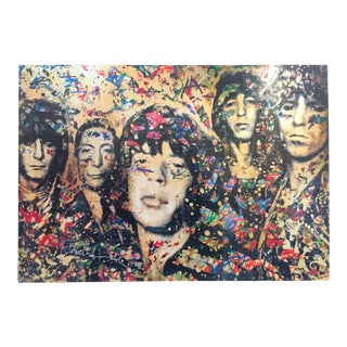 "Mr. Brainwash "" the Rolling Stones "" Authentic Lithograph Print Pop Art Poster For Sale"