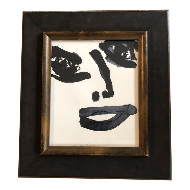 Contemporary Robert Cooke Abstract Face Painting Framed For Sale