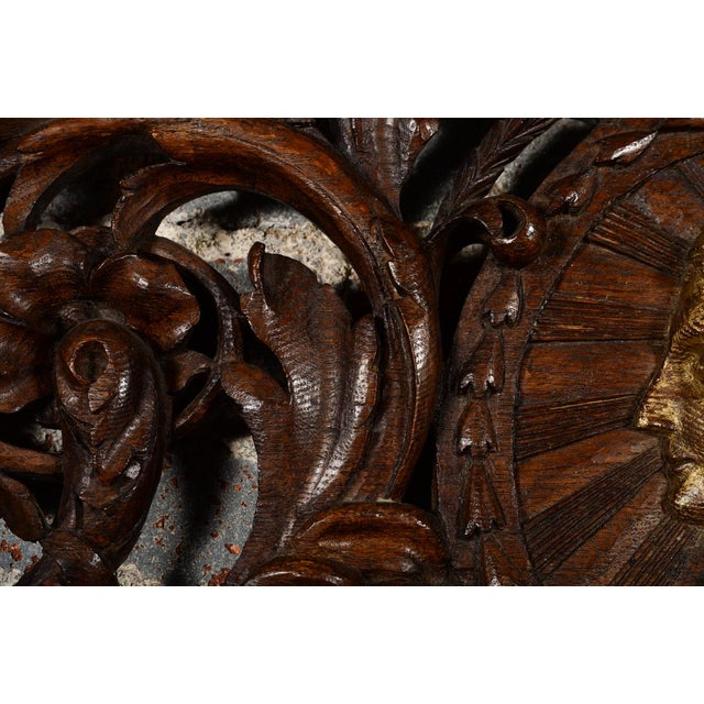 Mid 19th Century Antique Rococo Carved Wood Wall Panel For Sale - Image 5 of 11