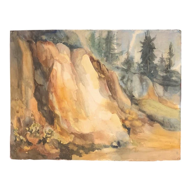 Bay Area Artist Landscape Mountain Side Painting For Sale
