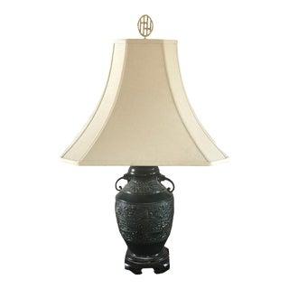 Dark Green Urn Lamp