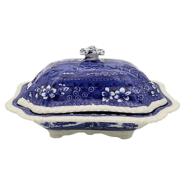 Antique Spode Tower Covered Dish For Sale