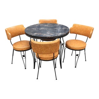 Mid-Century Retro Kitchen Table & Chairs - Set of 5