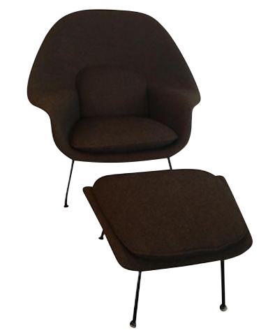 Mid Century Modern Knoll Womb Chair And Ottoman