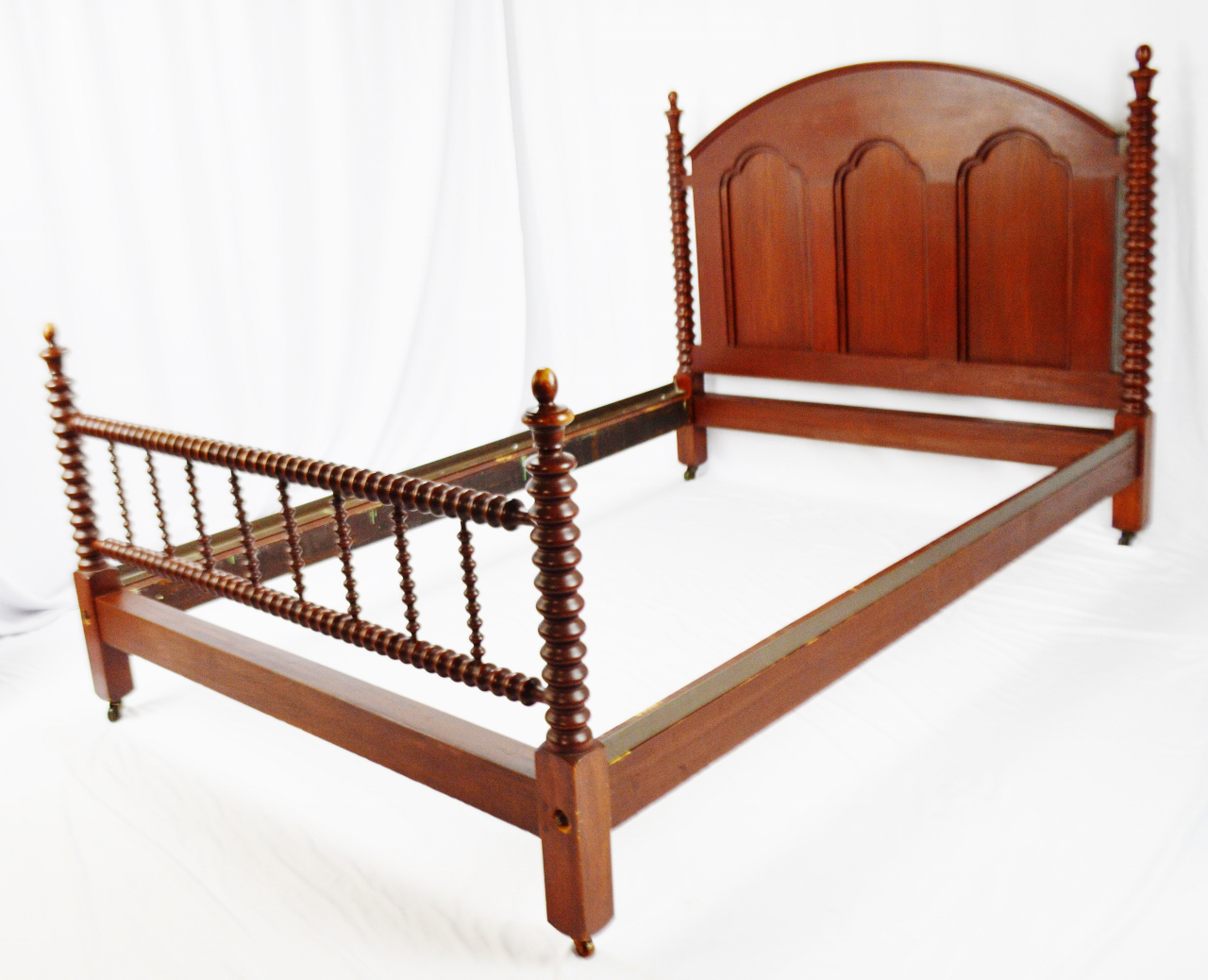 Antique Mahogany Jenny Lind Style Full Size Spool Spindle Bed Chairish