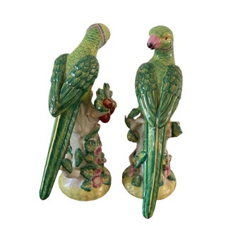William and Wayne Decorative Parrot Figurines For Sale