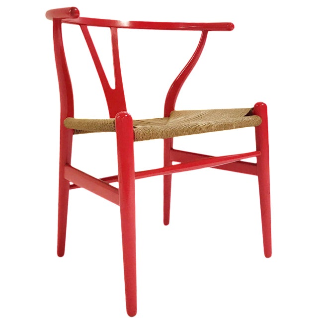 Vintage Hans Wegner Model Ch24 Wishbone Chair For Sale