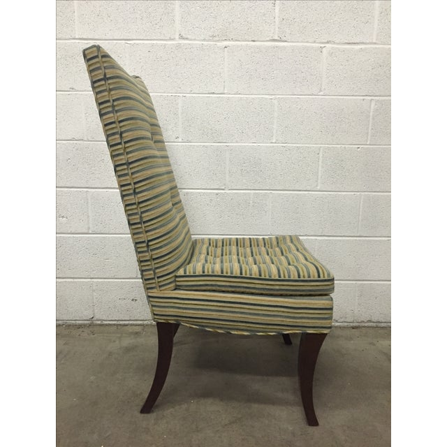 Striped R. Jones Dining Chairs - Set of 6 - Image 4 of 9