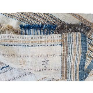 Homespun Hand Woven Wool Throw For Sale