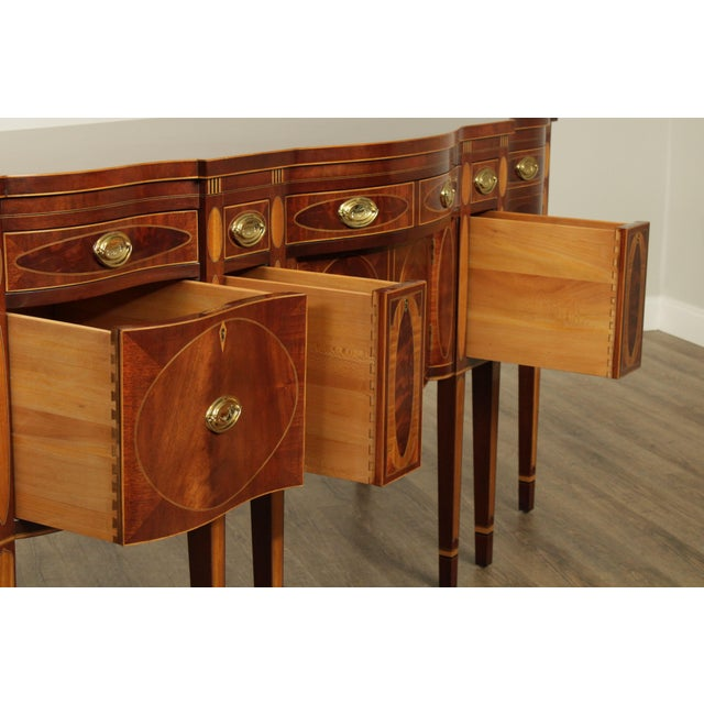 Kindel Winterthur Collection Mahogany Inlaid New York Sideboard (C) For Sale - Image 10 of 13