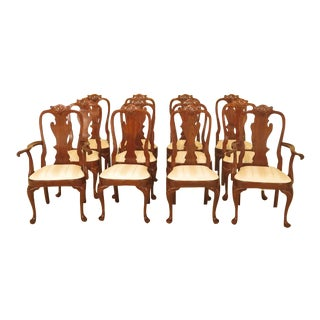 1990s Vintage Stickley Cherry Dining Chairs - Set of 12 For Sale