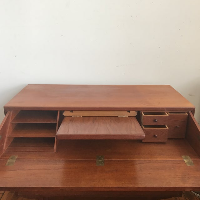 Desk - Mid-Century Modern Secretary Desk - Image 6 of 10