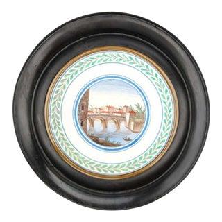 18th Century Italian Framed Pottery Tile For Sale