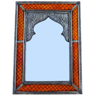 Hand-Engraved Moorish Mirror For Sale