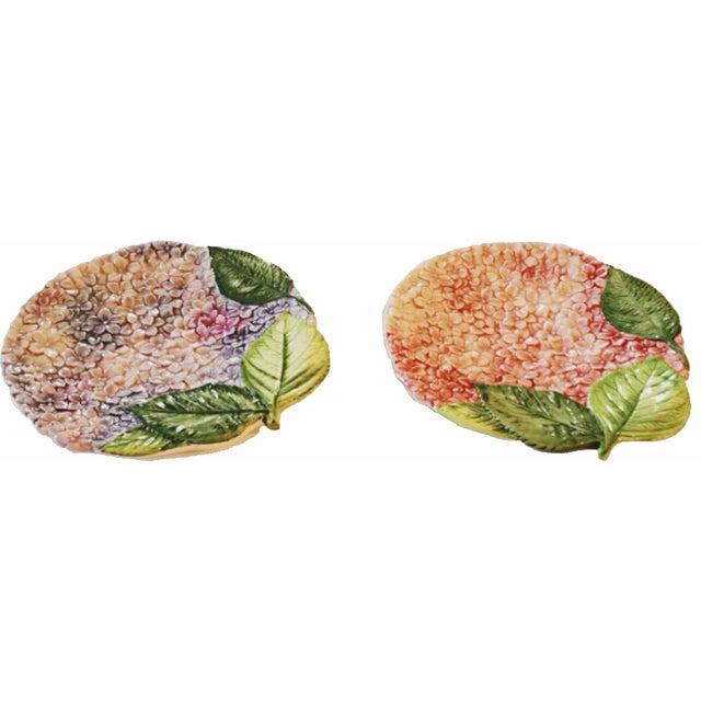Isabella De Borchgrove Italian Flower Plates - A Pair - Image 1 of 10