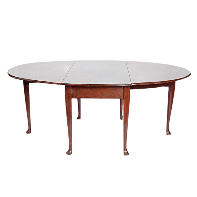 George II Mahogany Dining Table With Spanish Feet For Sale