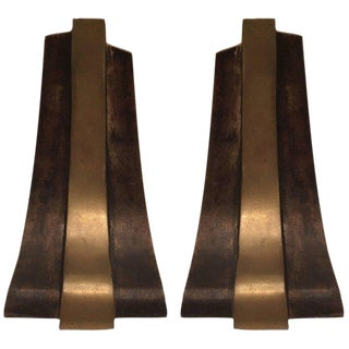 1970s Italian Esa Fedrigolli Esart Bronze Book Ends - a Pair For Sale