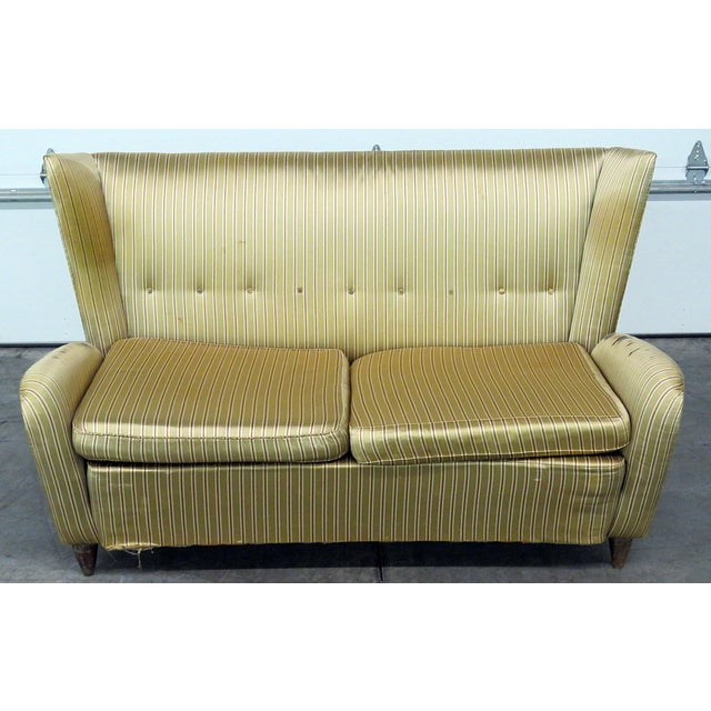 Textile Italian Modern Gio Ponti Style Upholstered Sofa For Sale - Image 7 of 7