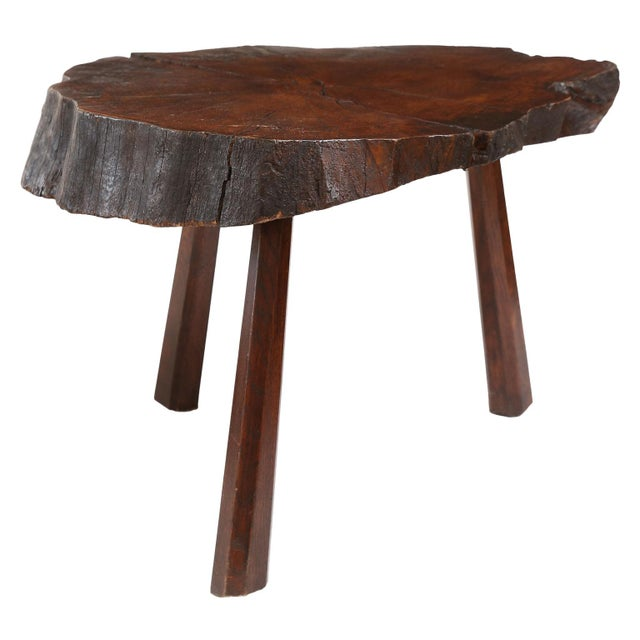 Contemporary Vintage Tree Trunk Table For Sale - Image 3 of 13