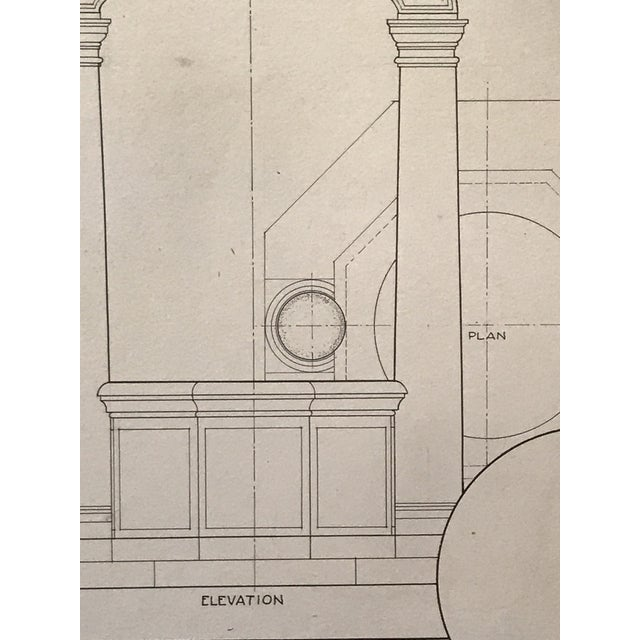 "Ruth Opper 1944 Architectural Drawing ""A Well Head Bologna"" For Sale In New York - Image 6 of 9"