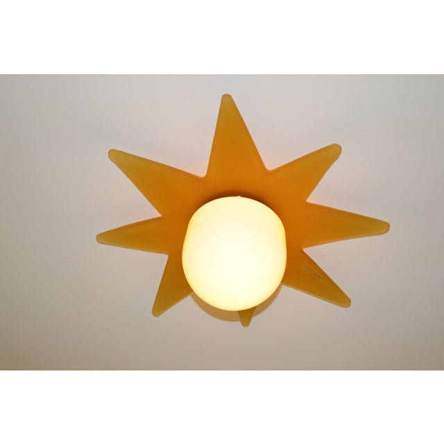 Itre 1980 Mid-Century Modern Murano Glass Ceiling Lamp For Sale - Image 4 of 7