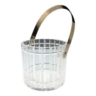 Mid Century Lucite Ice Champagne Bucket