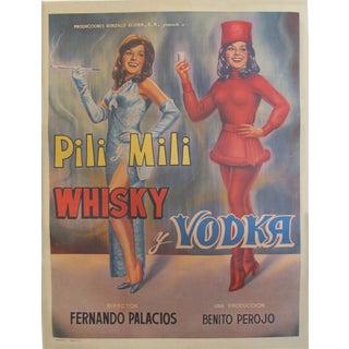1965 Original Mexican Movie Poster, Pili Mili Whisky Y Vodka