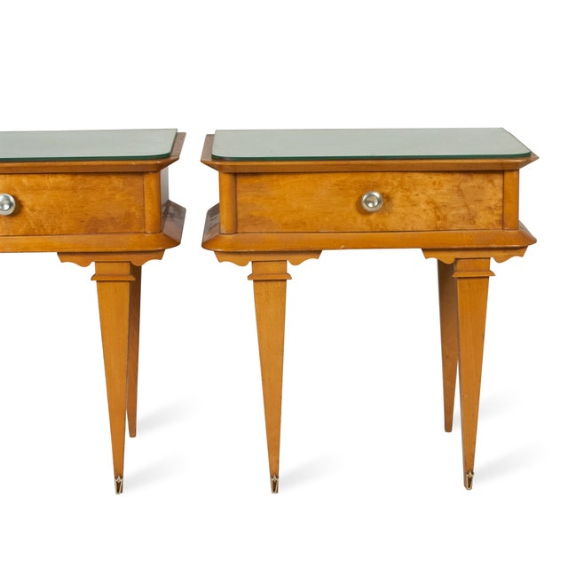 Vintage 1940s French Sycamore End Tables - A Pair - Image 4 of 10