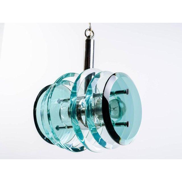 Italian Mid-Century Modern Geometric Glass Pendant Light For Sale - Image 11 of 11