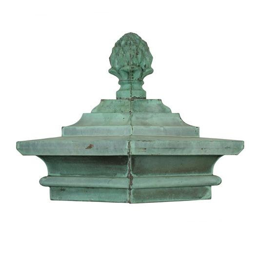 ca 1890 copper, patina This architectural ornament comes from a building in Boston's exclusive Beacon Hill. This copper...