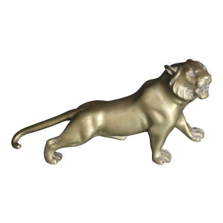 Vintage Brass Lion Figurine/Scupture For Sale