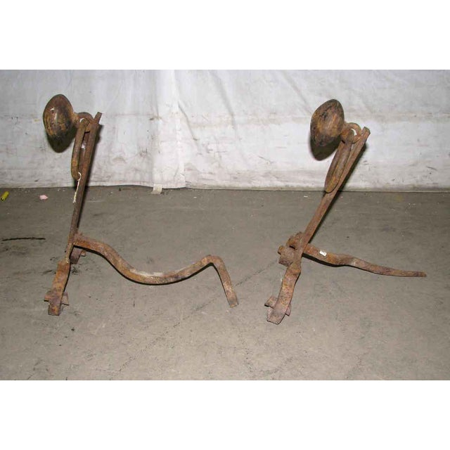 Antique Arts & Crafts Andirons - A Pair - Image 2 of 7