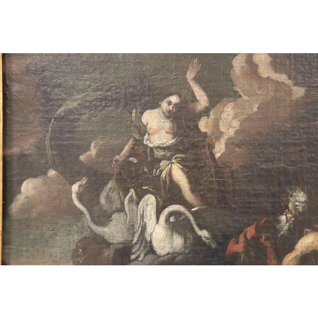 17th Century Italian Oil Painting on Canvas, Subject Mythological For Sale - Image 6 of 13