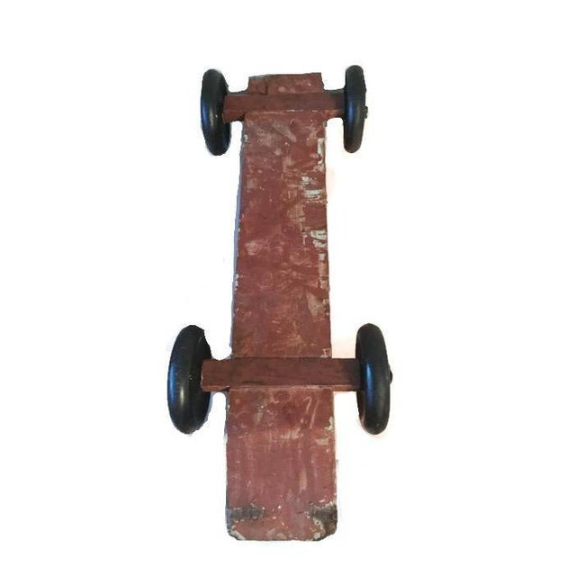 Handmade Race Car Pull Toy - Image 6 of 8