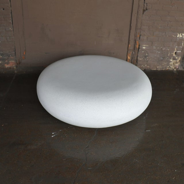 Lightweight Outdoor Cocktail Table in 'White Stone' Finish by Zachary A. Design For Sale - Image 4 of 6