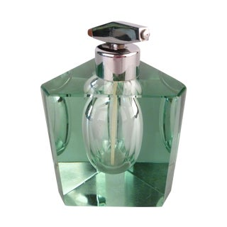 Green Tinted Crystal Perfume Bottle