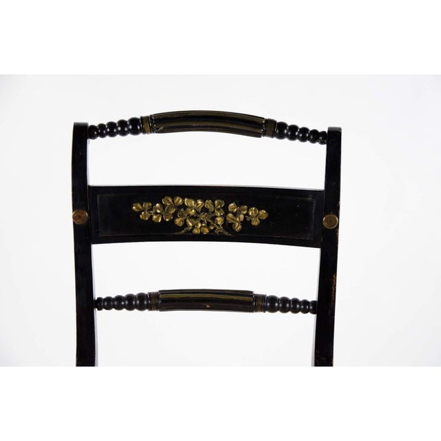 Early American Hitchcock Style Dining Chairs - Set of 6 For Sale In Atlanta - Image 6 of 12