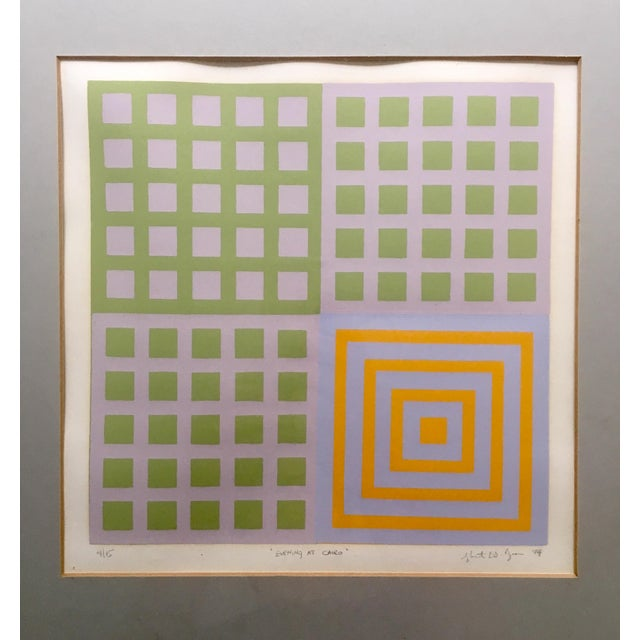 70's Geometric Abstract Silkscreens - A Pair - Image 5 of 8