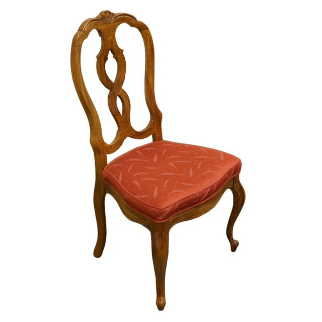 Late 20th Century Vintage Thomasville Furniture Camille Collection Dining Chair For Sale - Image 10 of 10