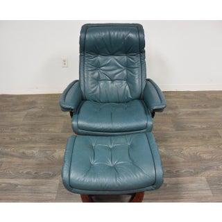 Modern Leather Stressless Ekornes Lounge Chair & Ottoman Preview