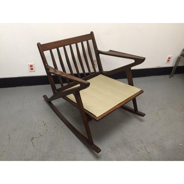 "Mid-Century Custom "" Z "" Rocking Chair - Image 4 of 5"