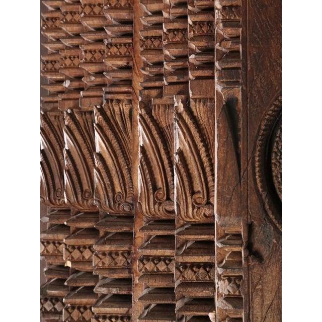 Antique Teak Carved Wood Door Frame For Sale - Image 11 of 12