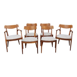 Set 6 Vintage Mid Century Kipp Stewart & Stuart MacDougall for Drexel Declaration Collection Dining Room Chairs For Sale