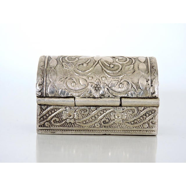 Mid 20th Century Miniature Silver Chest / Pill or Snuff Box For Sale - Image 5 of 7