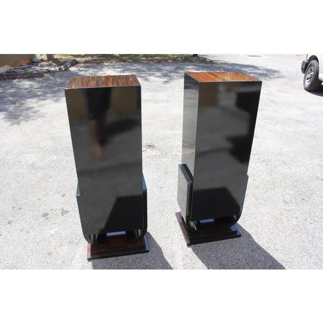 French Art Deco Macassar Ebony Pedestals - A Pair - Image 2 of 10