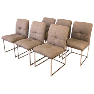 1970s Mid-Century Modern Milo Baughman for Thayer Coggin Dining Chairs - Set of 6