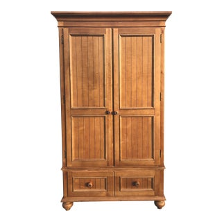 Ethan Allen Farmhouse Style Maple Armoire For Sale