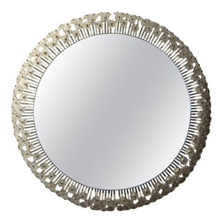 Mid-Century Austrian Mirror With Glass Blossoms by Emil Stejnar for Rupert Nikoll For Sale