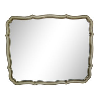 Vintage French Provincial Wall Mirror Dixie Style French Country Chic Shabby For Sale